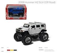 Модель джип 5'' KT5337WB HUMMER H2 SUV OFF ROAD 2008 метал.инерц.откр.дв.4цв.кор./96/