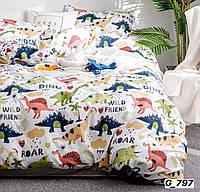 Набор постельного белья с рисунком динозавры
