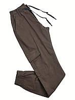 Брюки мужские на резинке. Штаны для мужчин коричневые повседневные Штани чоловічі  Для чоловіків Весна Літо