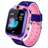 Водонепроницаемые детские смарт-часы JETIX DF22 с GPS трекером и камерой Pink (0000005)