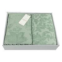 Набор полотенец хлопок 85x150, 50x100 Maison Dor Sanda зеленый пл.550г/м2