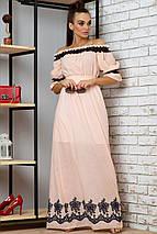 Батистовое летнее платье в пол с вышивкой (1404-1405-1406 svt), фото 3