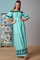 Батистовое летнее платье в пол с вышивкой (1404-1405-1406 svt), фото 2