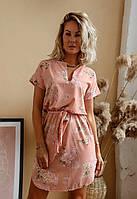 Платье с цветочным принтом женское полубатальное (ПОШТУЧНО) L/46-48