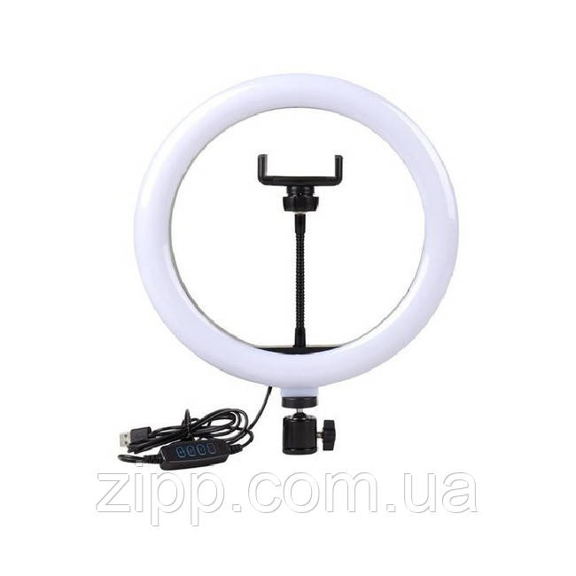 Кільцева світлодіодна LED лампа Ring Fill Light LC-330 тримач для телефону, кільце 33 см