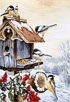 Набор для вышивания нитками LUCA-S Птичий домик (BU4021)