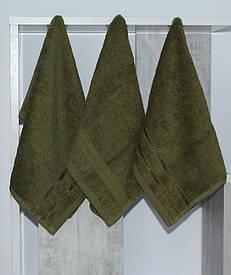 Набор полотенец 30х50 (3 шт) зелен.