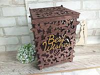 Скринька весільна для конвертів , матеріал - фанера, р-ри 20х18,5х26 см., 350 грн