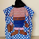 Пончо детское полотенце с капюшоном | Натуральное хлопок 100%, фото 2