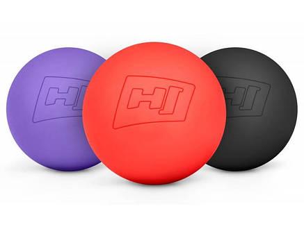 Силиконовый массажный мяч 63 мм HS-S063MB черный, фото 2