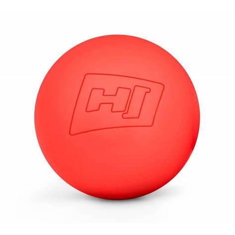 Силиконовый массажный мяч 63 мм HS-S063MB красный, фото 2