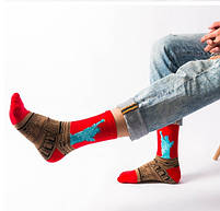 Прикольные высокие мужские носки с принтом Статуи свободы, фото 2