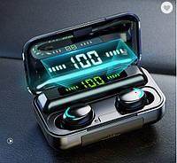 Беспроводные наушники TWS F9-5С  Bluetooth  5.0  с цифровым зарядным PowerBank.