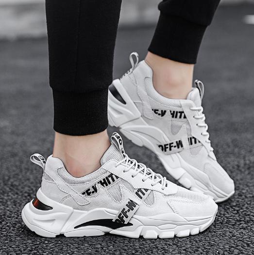 Кроссовки в стиле Off-White светлые