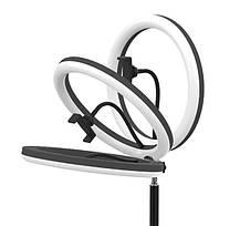 Кольцевая лампа LED S31 с креплением телефона и управлением на проводе USB, диаметр 33см, фото 3