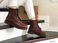 Женские ботинки зимние марсала 8776