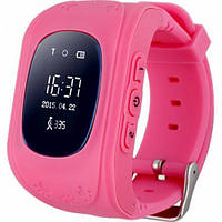 Умные Smart часы для детей с GPS трекером Baby Watch Q50 Розовые