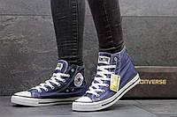 Женские высокие кеды Converse синие 2267