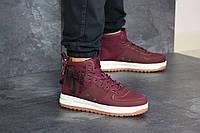 Мужские кроссовки бордовые Nike Air Force 1 8448