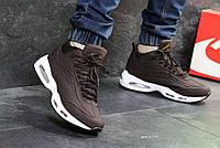 Мужские кроссовки зимние коричневые Nike 95 6973
