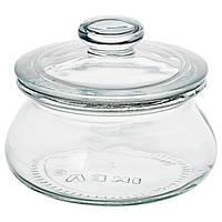 IKEA Банка с крышкой, прозрачное стекло, 0.3 л
