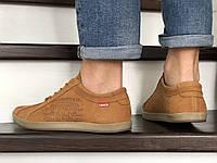 Мужские кроссовки рыжие Levis 8999