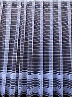 Тюль готовая пошитая с тесьмой белая с полосками 165х300  014900, фото 1