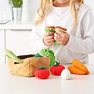 Овощи разрезные IKEA игрушки, игровой набор продуктов питания, еды, 14 шт., фото 2