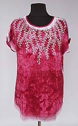 Летняя женская туника «Веточка» бордового цвета