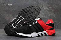 Мужские демисезонные кроссовки Adidas Equipment черные с красным 3583