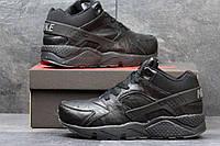 Мужские зимние кроссовки Nike Air Huarache черные 3648