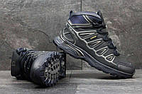 Мужские зимние кроссовки Salomon X-Ultra темно синие 3626