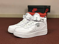 Мужские зимние кроссовки белые Nike Air Force 8591