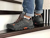 Мужские зимние кроссовки серые Adidas Climaproof 754 8665