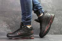 Мужские зимние кроссовки черные с красным Nike Air Max 98 6902