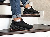 Мужские зимние кроссовки черные с оранжевым Adidas Sharks 8611