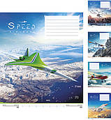 Тетрадь 18 л линия Школярик Speed Aircraft 2612