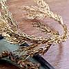 Тиара обруч золотой ВИЛЬЕН, ободок лавр, венок на голову, фото 3