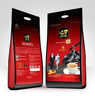 Вьетнамский кофе 3в1 с сахаром и сливками G7 Trung Nguen 100шт*16 грамм (Вьетнам)