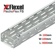 Лоток перфорированный, оцинкованный 100x100x3000x0,6 мм Plechoflex FB
