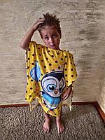Детское пончо для мальчика, пингвиненок, Турция