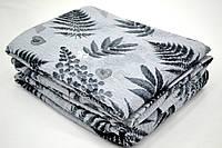 Семейное постельное белье жатка в бежевых тонах
