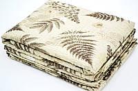 Семейное постельное белье жатка в коричневом цвете