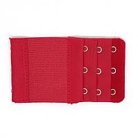 Расширитель - удлинитель для бюстгальтера на 3 крючка (в 3 ряда), шириной 5,5 см с резинкой бордовый