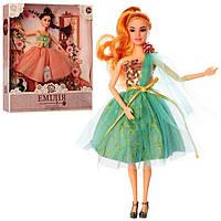 Лялька Емілія шарнірна 29см, сумочка, аксес. M4371UA