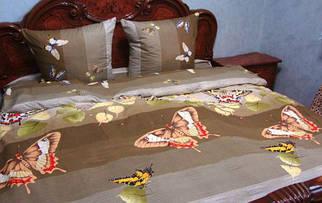 """Комплект постільної білизни на кнопках Atelier Romana хлопок """"Метелики"""" сімейний 145*210*2шт."""