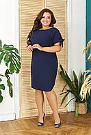 Летнее лёгкое платье БАТАЛ (большие размеры), арт N176, цвет синий / синего цвета