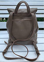 664-1 Натуральная кожа Городской А-4 рюкзак кожаный кофейный рюкзак женский из натуральной кожи коричневы А4+, фото 2