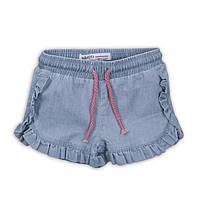 Легкие джинсовые шорты для девочки, размеры от 104 до 116 см