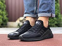 Кроссовки мужские Adidas 9530 чёрные с серым, фото 1